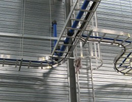 Compressed Air Pipe on Cable Tray