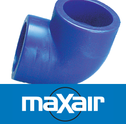 Maxair Compressed Air Pipe System brand and fitting